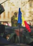 布加勒斯特,罗马尼亚, 12月1日:在罗马尼亚,凯旋门, 2013年12月1的国庆节的日军事游行在布加勒斯特 1 :在罗马尼亚的国庆节的军事游行 库存图片