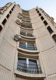 布加勒斯特,罗马尼亚:齐奥塞斯库时代公寓楼细节  库存照片
