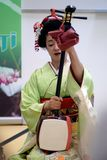 布加勒斯特,罗马尼亚18 05 2018年艺妓Umekichi日本文化天 库存图片