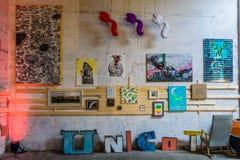布加勒斯特,罗马尼亚- 2015年10月17日:创造性的Est布加勒斯特 图库摄影