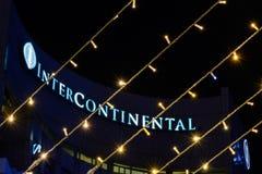 布加勒斯特,罗马尼亚- 12月25 :旅馆洲际在Dece 免版税图库摄影