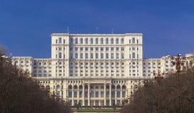 布加勒斯特,罗马尼亚- 3月13 :罗马尼亚的议会的宫殿2015年3月13日的在布加勒斯特,罗马尼亚 免版税库存图片