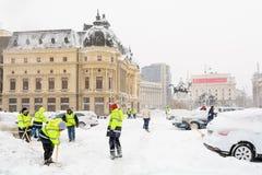 布加勒斯特,罗马尼亚- 1月17 :1月17日的革命正方形 免版税库存照片