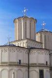布加勒斯特,罗马尼亚- 3月13 :Dealul的Mitropoliei罗马尼亚家长式大教堂 免版税图库摄影