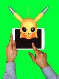 布加勒斯特,罗马尼亚Octomber 15日2016年:Pokemon是,最普遍的新的网络游戏应用 免版税库存照片
