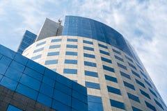布加勒斯特财政广场建筑物 免版税库存照片