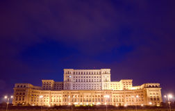 布加勒斯特-议会宫殿 免版税库存照片