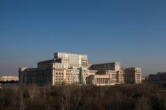 布加勒斯特-议会宫殿 免版税库存图片