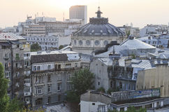 布加勒斯特-鸟瞰图 免版税库存照片