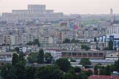 布加勒斯特-鸟瞰图 图库摄影