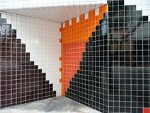 布劳沃德县公立图书馆的瓦片墙壁 免版税图库摄影