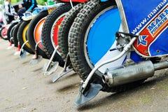 布勒伊拉,罗马尼亚- 5月31 :轮胎细节在全国Champi的 免版税库存图片