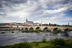 布卢瓦和卢瓦尔河 法国 库存图片