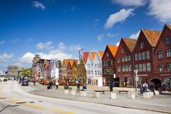 布吕根历史的buidings在卑尔根,挪威 免版税库存图片