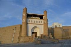 布哈拉堡垒入口 库存图片