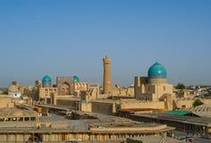 布哈拉,乌兹别克斯坦全景  免版税库存照片