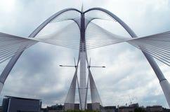布城,马来西亚Seri Wawasan桥梁  免版税库存照片