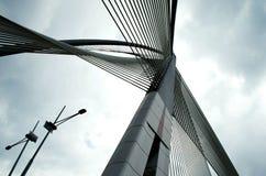布城,马来西亚Seri Wawasan桥梁  库存照片