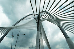 布城,马来西亚Seri Wawasan桥梁  图库摄影