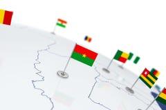 布基纳法索旗子 向量例证