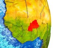 布基纳法索的地图3D地球上的 库存例证