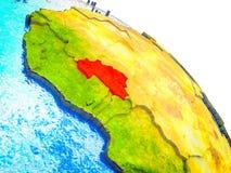 布基纳法索的地图3D地球上的 皇族释放例证