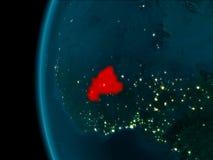 布基纳法索的夜视图 库存图片