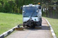 布契尔CityCat 2020年道路清扫工在一个公园 免版税库存照片