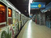 布宜诺斯艾利斯老地铁 免版税库存图片