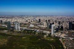 布宜诺斯艾利斯视图马德罗港邻里从天线的 库存照片