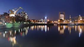 布宜诺斯艾利斯,夜地平线。 免版税库存照片