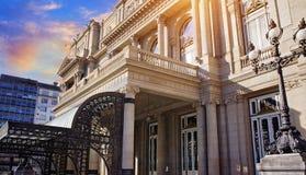 布宜诺斯艾利斯,著名冒号剧院Teatro冒号 库存照片