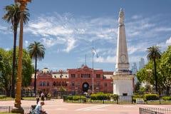 布宜诺斯艾利斯,阿根廷- 2016年10月30日:住处Rosada在广场 免版税库存照片