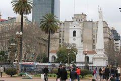 布宜诺斯艾利斯,阿根廷的市中心 免版税图库摄影
