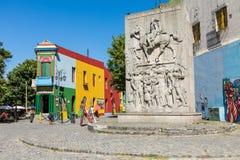 布宜诺斯艾利斯- 2018年1月31日:在拉博卡neighb的五颜六色的区域 免版税库存照片