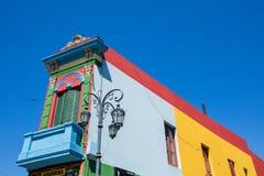 布宜诺斯艾利斯- 2018年1月31日:在拉博卡neighb的五颜六色的区域 库存照片