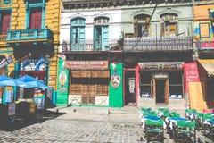 布宜诺斯艾利斯- 2018年1月31日:在拉博卡neighb的五颜六色的区域 库存图片