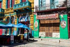 布宜诺斯艾利斯- 2018年1月31日:在拉博卡neighb的五颜六色的区域 免版税库存图片