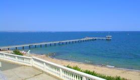 布尔加斯海滩保加利亚 库存照片