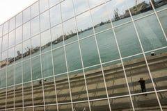 布尔加斯港的水区域彩色玻璃海洋驻地的,保加利亚 图库摄影