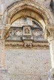 布尔戈斯主教座堂外部细节,在布尔戈斯,西班牙 免版税库存照片