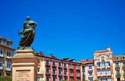布尔戈斯广场市长正方形在卡斯蒂利亚西班牙 图库摄影