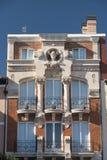 布尔戈斯西班牙:在广场市长的历史建筑 库存照片