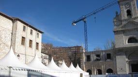 布尔戈斯,西班牙中央街道  免版税库存图片