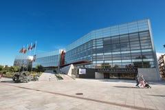 布尔戈斯,西班牙- 10月4 :10月4日的人类演变博物馆, 免版税图库摄影