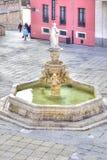 布尔戈斯 在圣徒玛丽亚正方形的喷泉  免版税库存图片