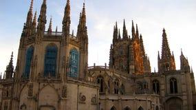 布尔戈斯Cathedral.Famous西班牙人地标 库存照片