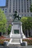 布尔战争纪念品在多切斯特广场,蒙特利尔,加拿大 库存照片