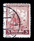 布尔诺、城堡、风景和城市serie,大约1929年 免版税库存照片