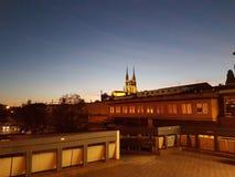 布尔诺夜风景 库存图片